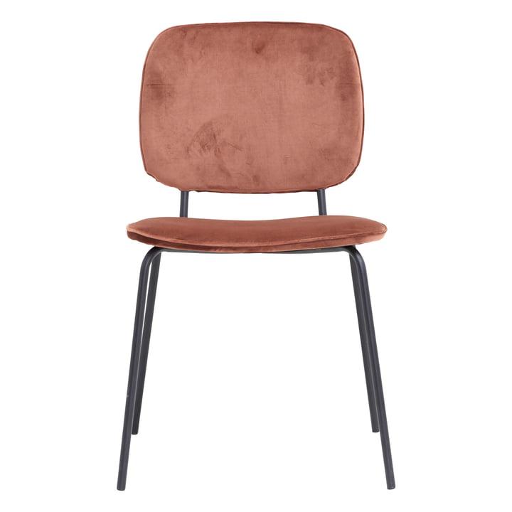 Comma Samt-Stuhl von House Doctor in rostrot