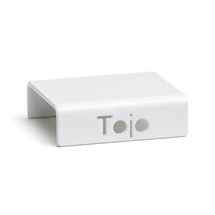 Clip für Hochstapler Regalsystem von Tojo in weiß