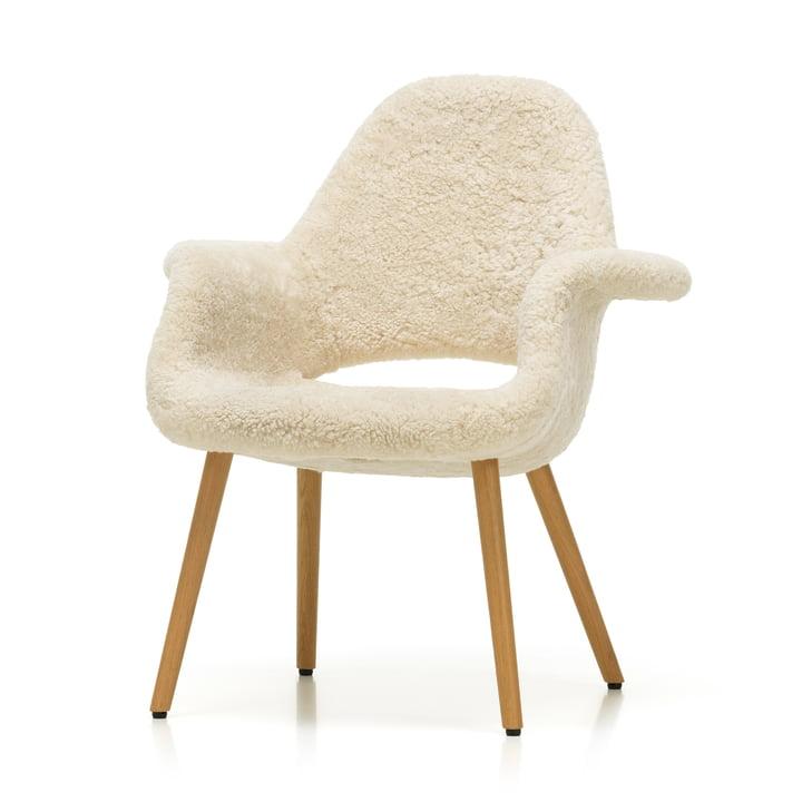 Organic Chair von Vitra in Eiche natur / Sheepskin (Limited Edition)