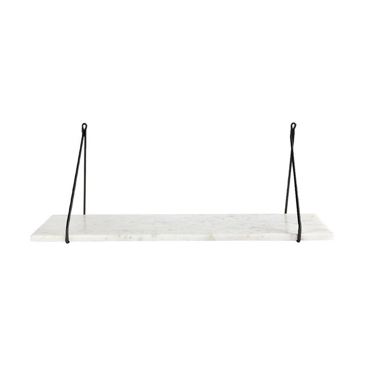 Marmor Wandregal 24 x 70 cm von House Doctor in schwarz / Marmor weiß