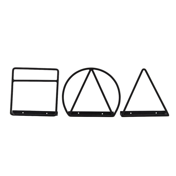 House Doctor - Loge Zeitschriftenhalter, schwarz (3er-Set)
