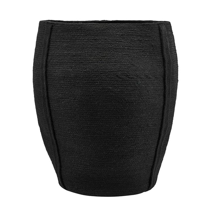 Aufbewahrungskorb Drum Ø 40 x H 55 cm von House Doctor in schwarz