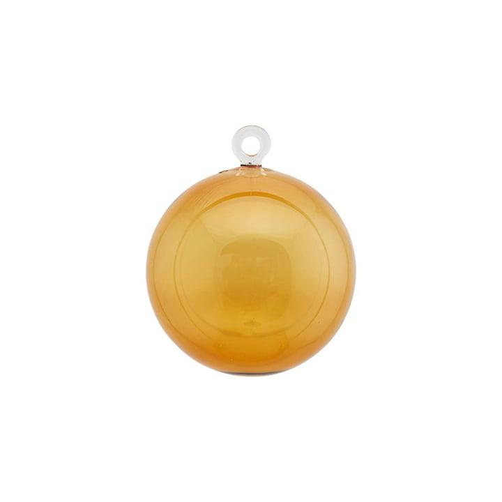Christbaumkugel aus Glas Ø 8 cm von House Doctor in gelb