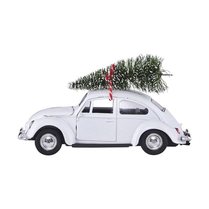 Xmas Cars Deko-Autos 12,5 cm von House Doctor in weiß