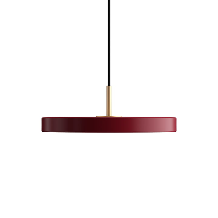 Asteria Mini LED-Pendelleuchte von Umage in ruby red
