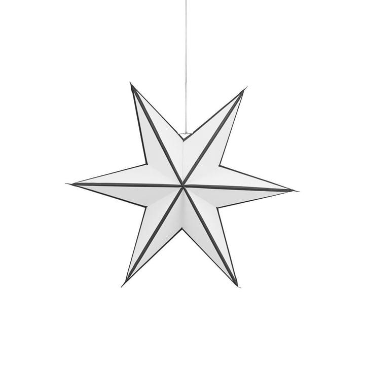Weihnachtsstern Stroke 45 cm von House Doctor in schwarz / weiß
