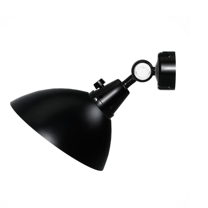 Midgard - Modular 555 Wandspot, schwarz / schwarz (Aluminiumgelenkkappen)