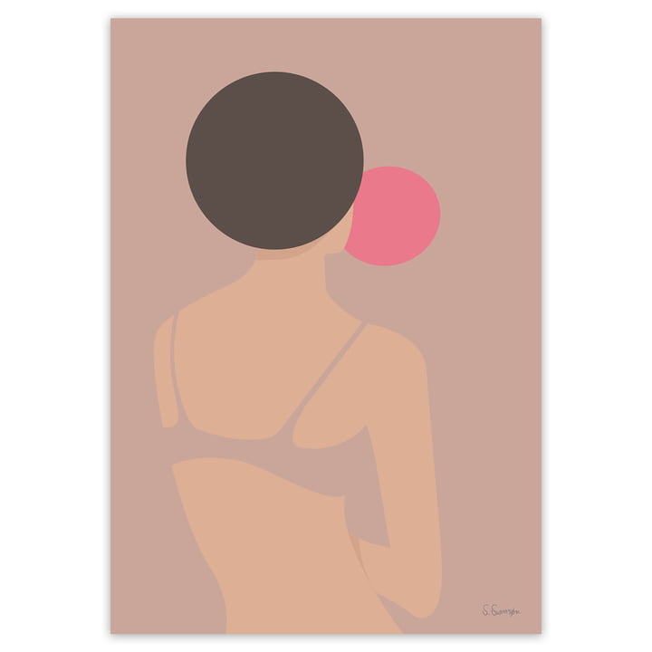 artvoll - Tyggegummikvinde Poster, 70 x 100 cm