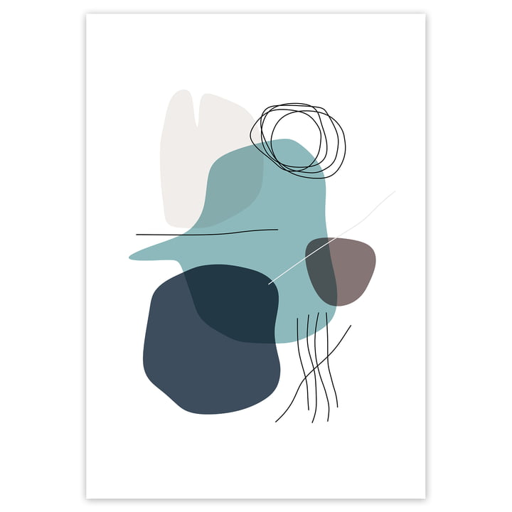 Artvoll - Shapes 2 Water Poster, 70 x 100 cm