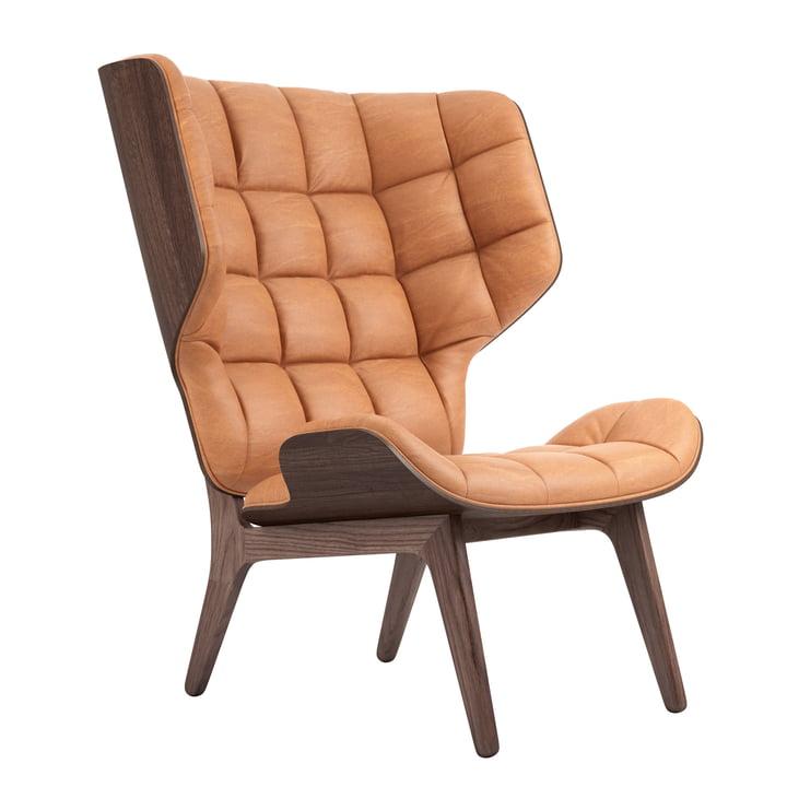 Mammoth Lounge Sessel von Norr11 in Eiche gebeizt / Leder cognac (21000)