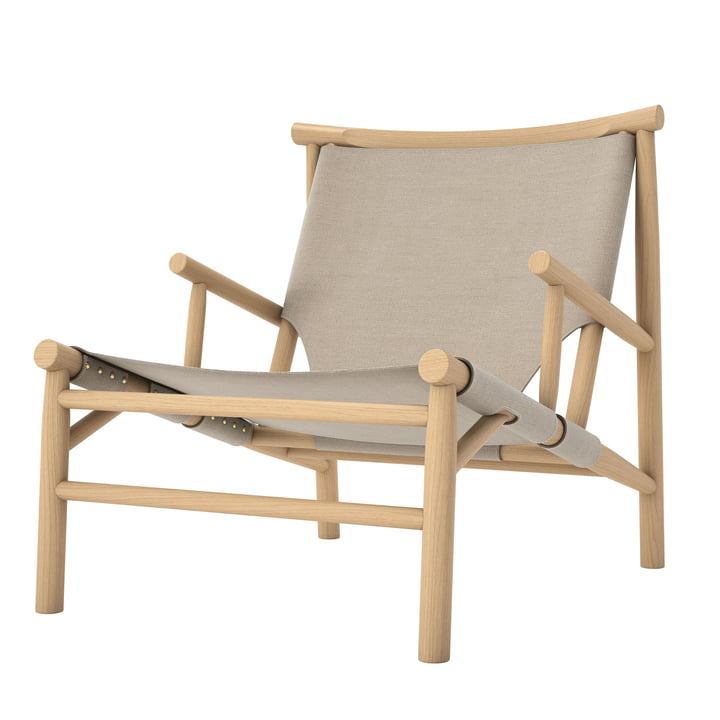 Samurai Lounge Chair von Norr11 in Eiche natur / Canvas