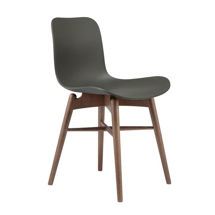 Langue Original Stuhl von Norr11 in Buche geräuchert / army green