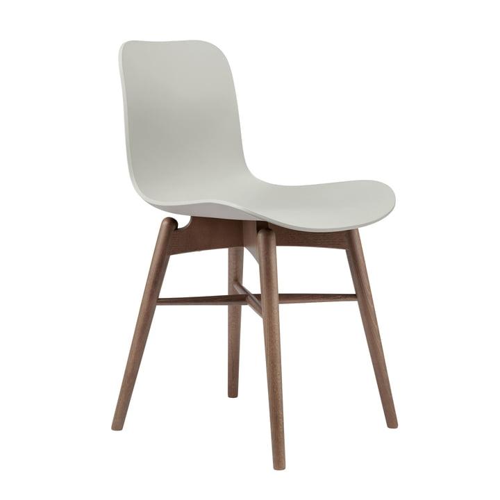 Langue Original Stuhl von Norr11 in Buche geräuchert / flint grey