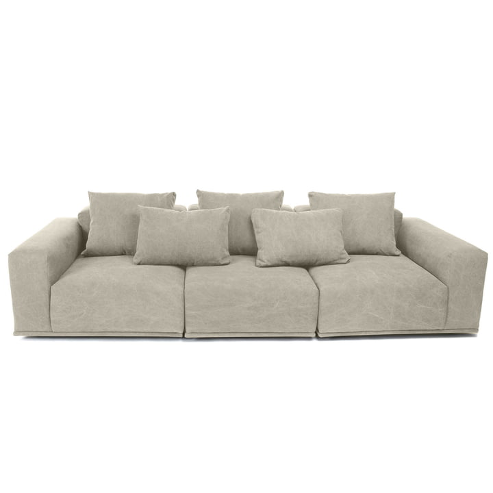 Madonna Sofa 3-Sitzer inkl. Kissen von Norr11 in washed beige (05)