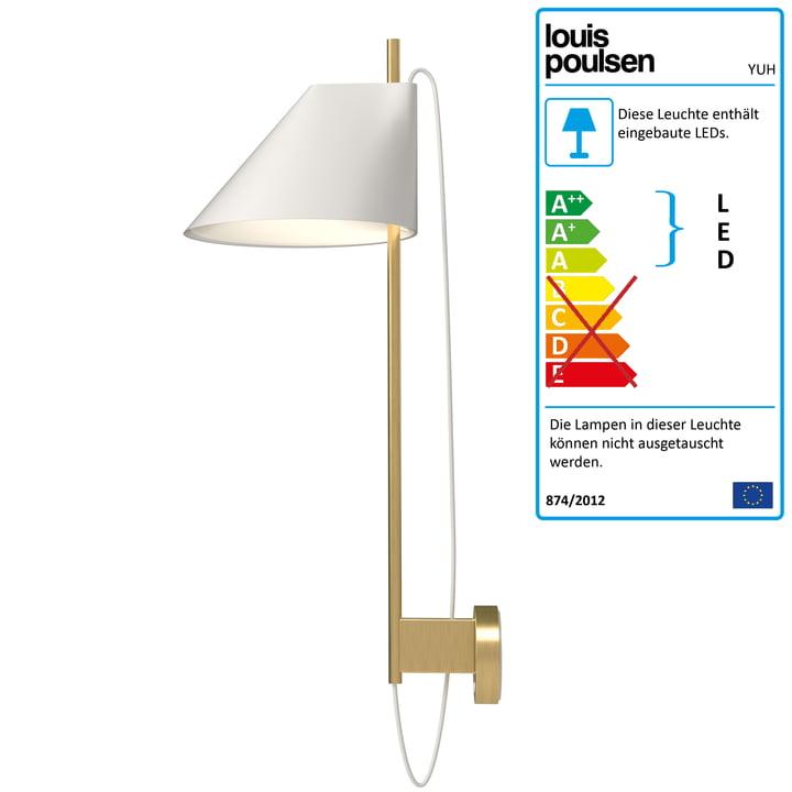 Yuh Wandleuchte LED von Louis Poulsen in Messing / weiß