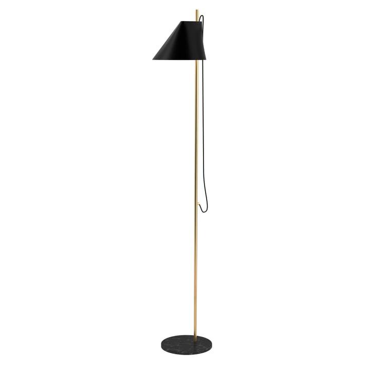 Yuh Stehleuchte LED von Louis Poulsen in Messing / schwarz