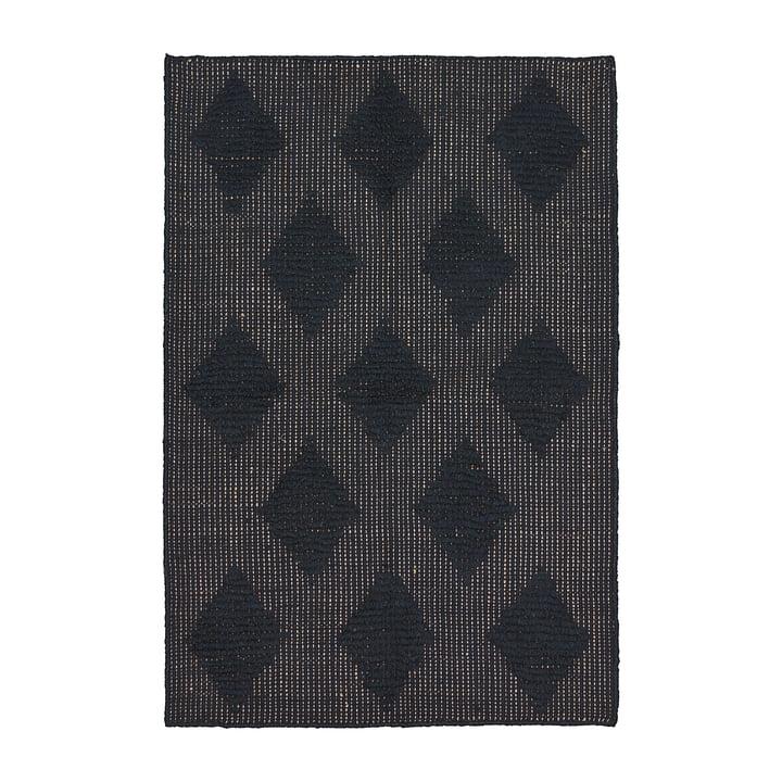 Cubie Teppich 130 x 85 cm von House Doctor in schwarz