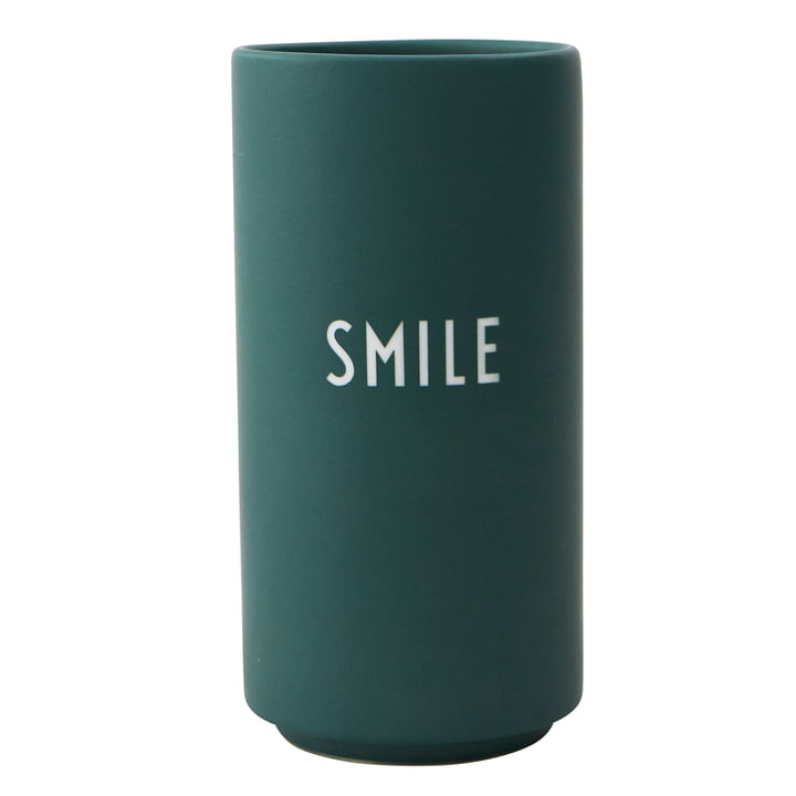 AJ Favourite Porzellan Vase Smile von Design Letters in dunkelgrün