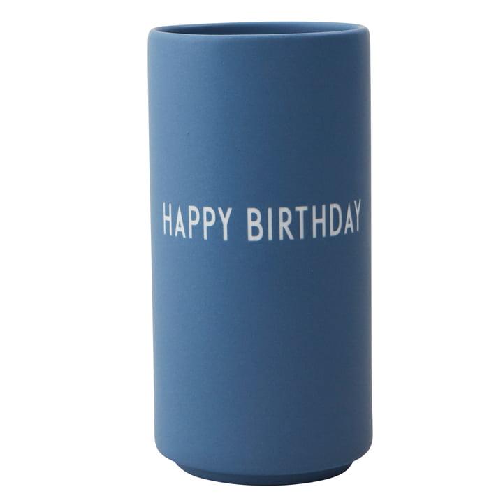 AJ Favourite Porzellan Vase Happy Birthday von Design Letters in blau