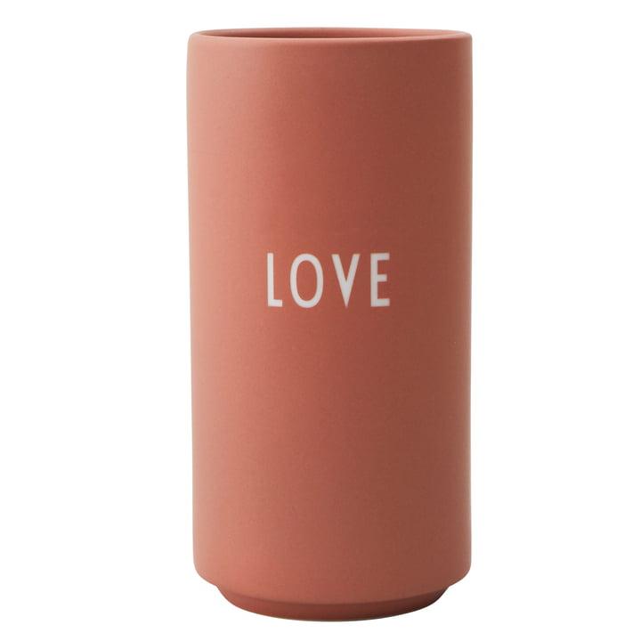 AJ Favourite Porzellan Vase Love von Design Letters in nude