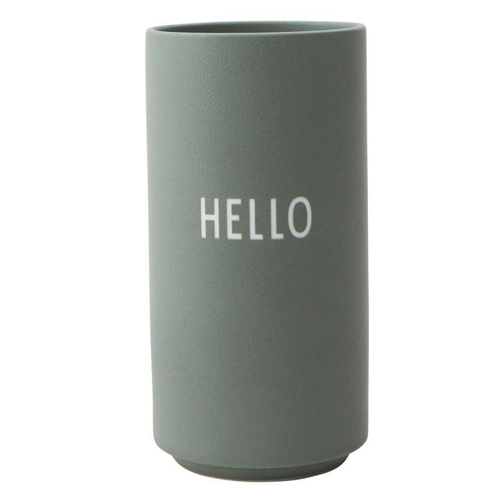 AJ Favourite Porzellan Vase Hello von Design Letters in grün