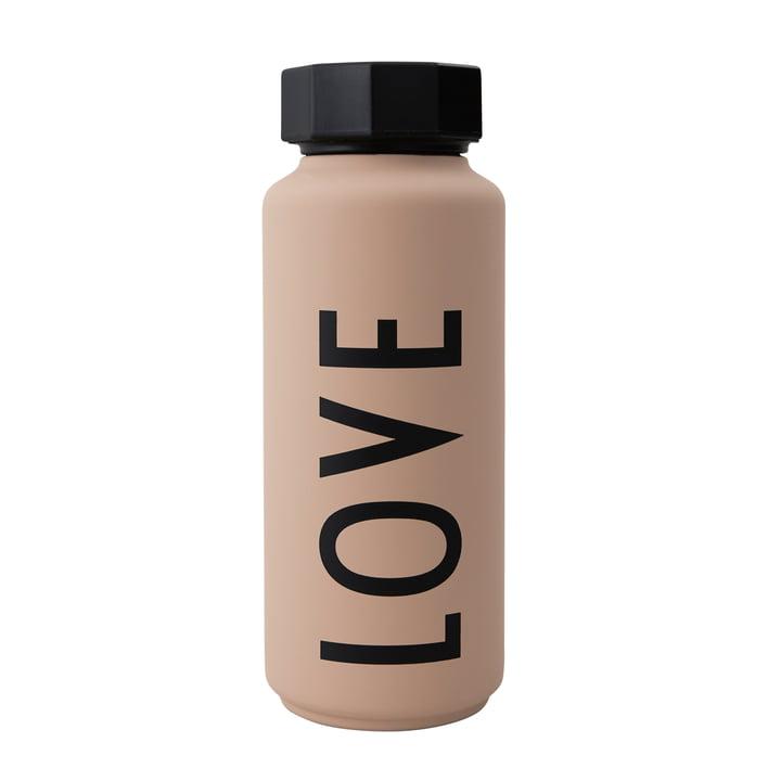 AJ Thermosflasche Hot & Cold 0,5 l Love von Design Letters in nude