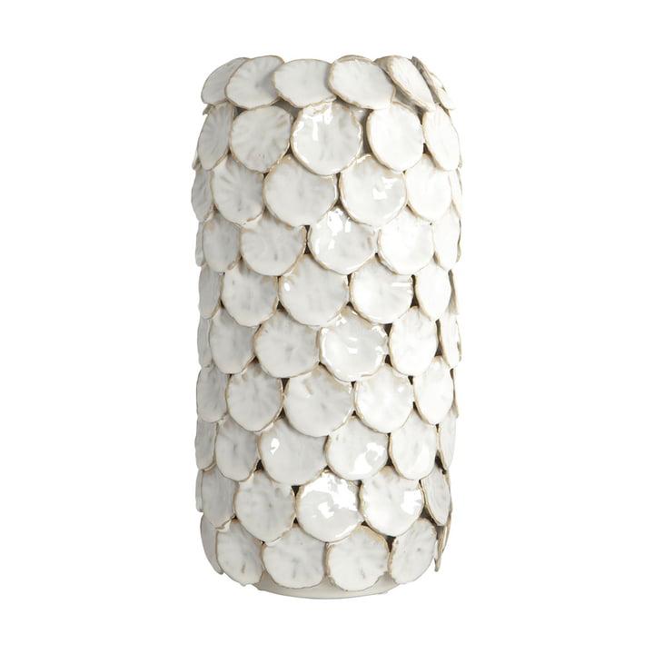 Dot Vase H 30 cm von House Doctor in weiß