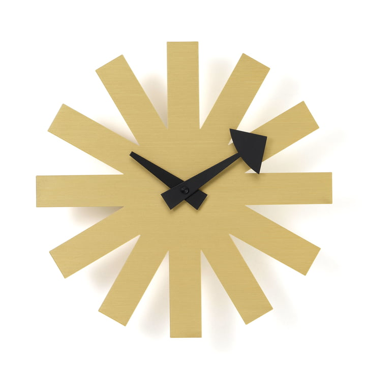 Asterisk Clock von Vitra in Messing