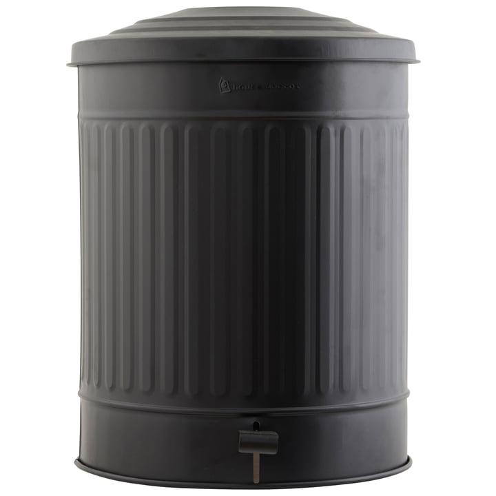 Mülleimer matt 49 l von House Doctor in schwarz