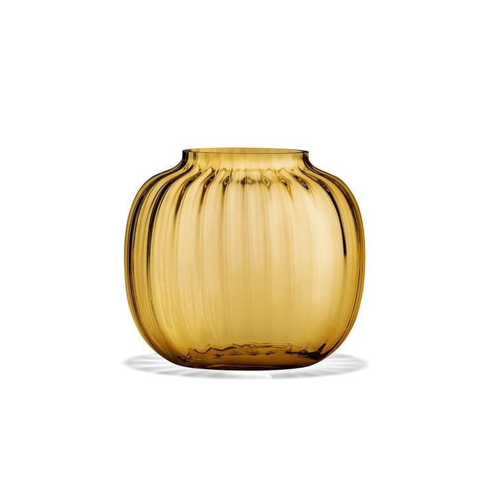 Primula Vase oval H 12,5 cm von Holmegaard in Bernstein