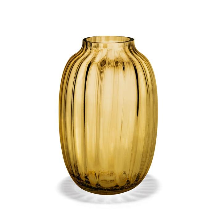 Primula Vase oval H 25,5 cm von Holmegaard in Bernstein