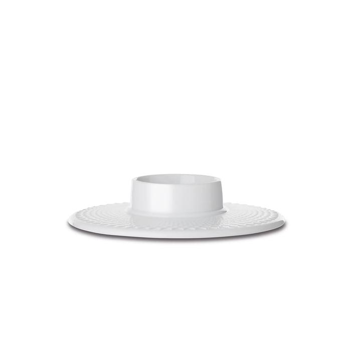 Rhombe Kerzenhalter Ø 14,5 cm von Lyngby Porcelæn in weiß