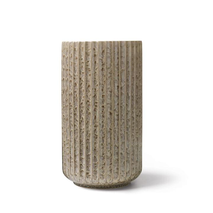 Radiance Vase H 20,5 cm von Lyngby Porcelæn in grau