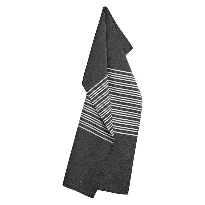 Horizontal Geschirrtuch 50 x 80 cm, jet black von Georg Jensen Damask
