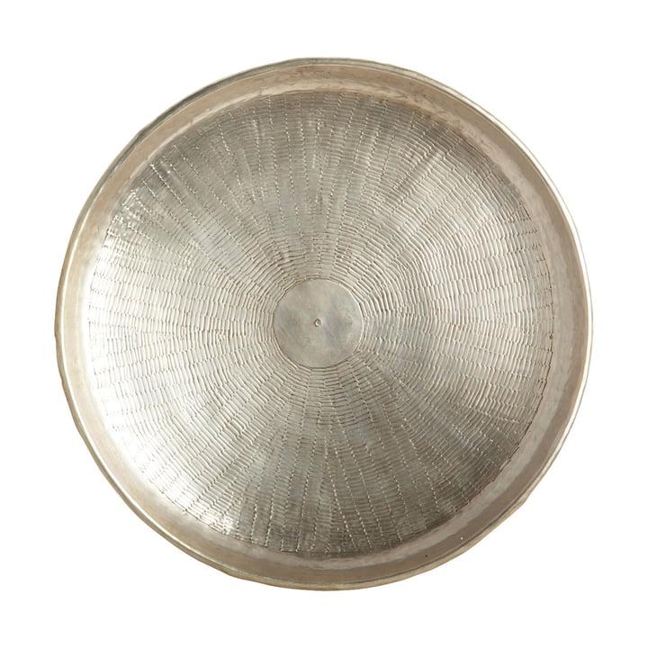 Carve Tablett, Ø 38 x H 5 cm, Messing / silber von House Doctor