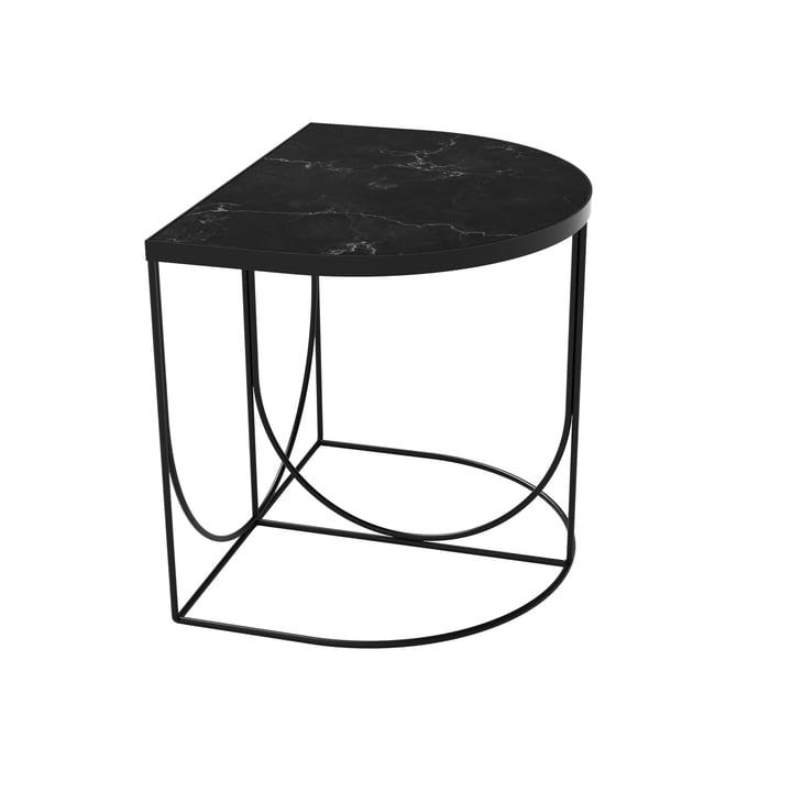 Sino Beistelltisch 40 x 50 cm von AYTM in schwarz / Marmor schwarz