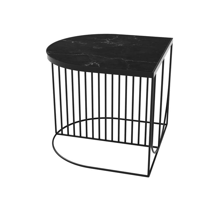 Sino Couchtisch 50 x 50 cm von AYTM in schwarz / Marmor schwarz