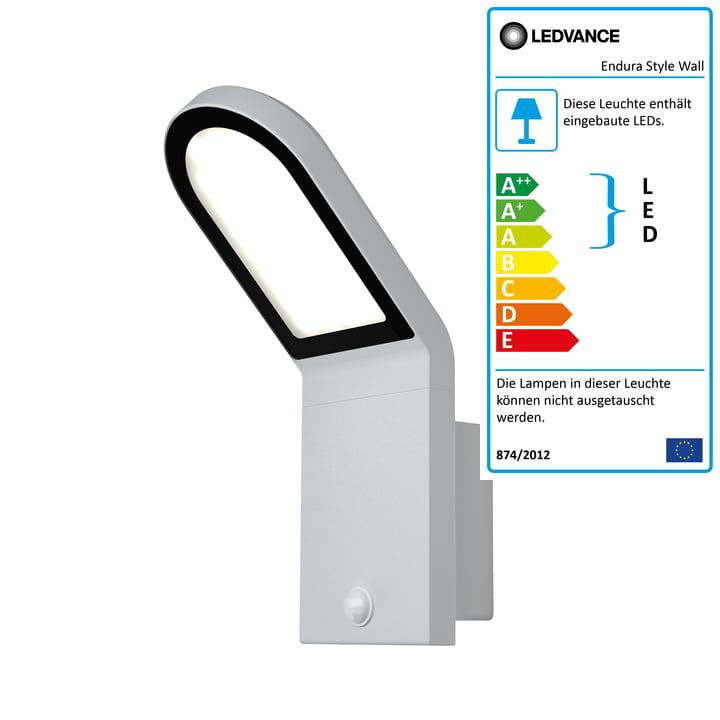Endura Style Wall Sensor LED-Wandleuchte Outdoor, IP 44 / Warmweiß 3000 K, weiß von Ledvance