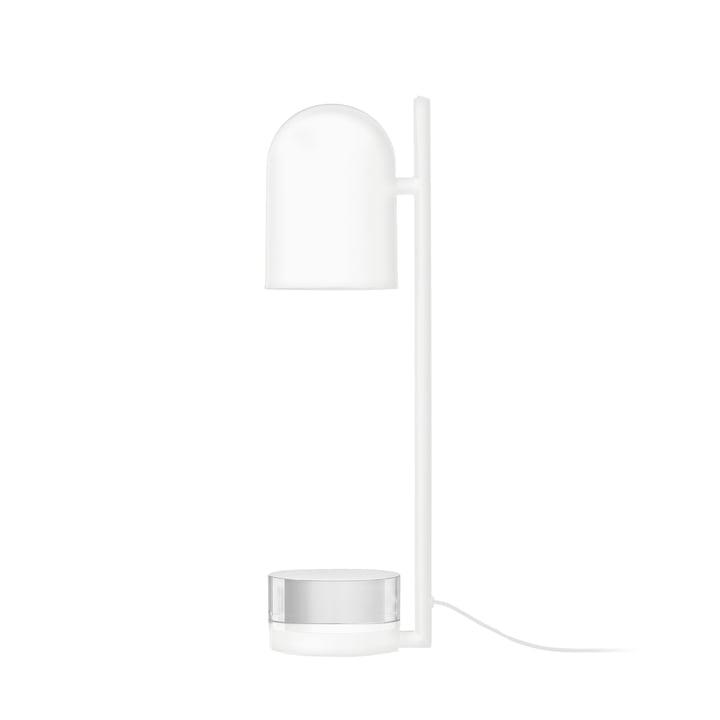 Luceo Tischleuchte Ø 12 x H 50 cm von AYTM in weiß / klar