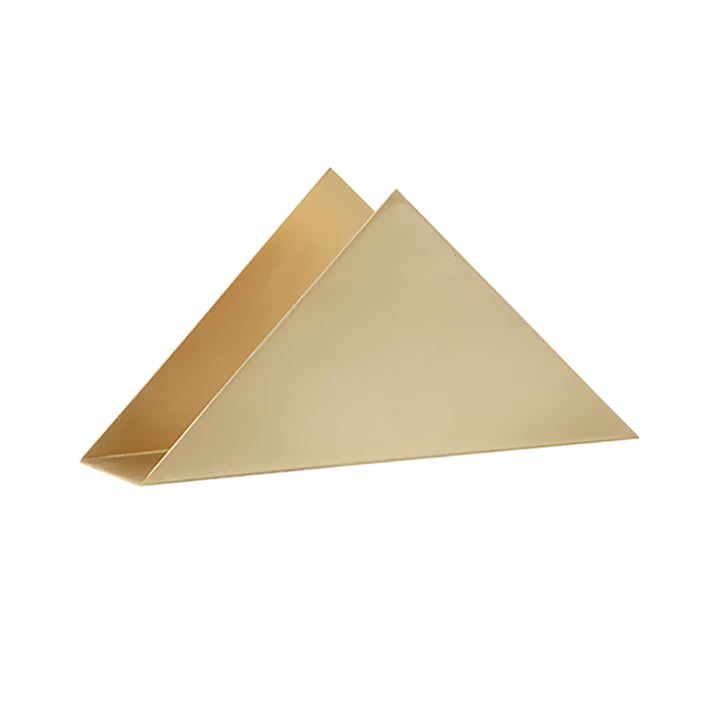 Triangle Serviettenhalter von ferm Living in Messing