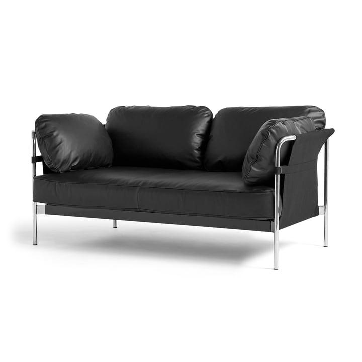 Can 2.0 Sofa 2-Sitzer von Hay in Chrom / Canvas schwarz / Silk schwarz SIL0842