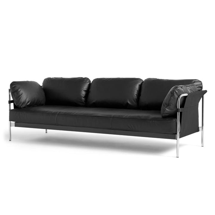 Can 2.0 Sofa 3-Sitzer von Hay in Chrom / Canvas schwarz / Silk schwarz SIL0842