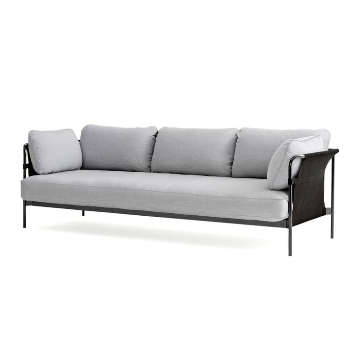 Can 2.0 Sofa 3-Sitzer von Hay in Chrom / Canvas grau / Surface 120 hellgrau