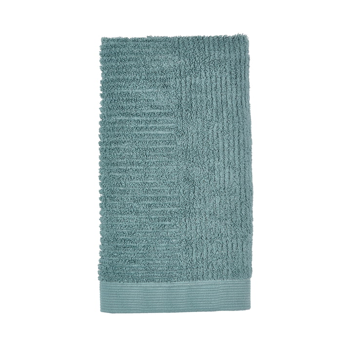 Classic Handtuch 100 x 50 cm von Zone Denmark in cameo blue / petrol green
