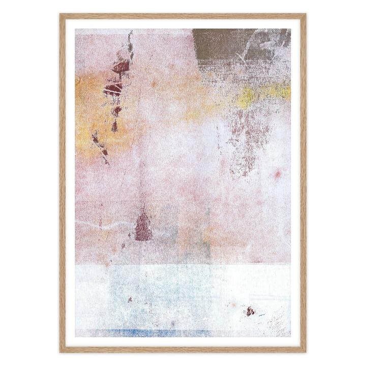artvoll - Abstract No.1 Poster mit Rahmen, Eiche natur