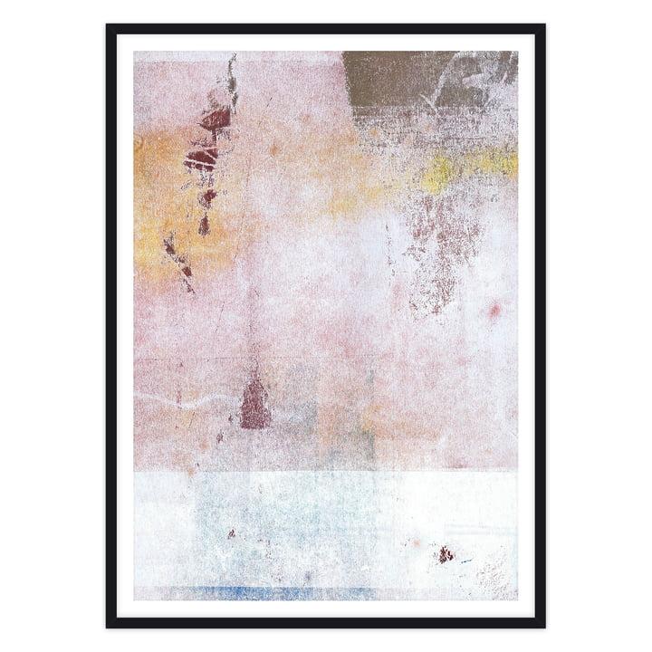 artvoll - Abstract No.1 Poster mit Rahmen, schwarz