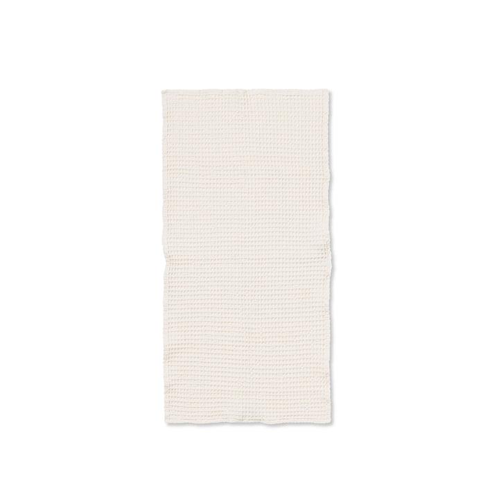 Organic Handtuch 100 x 50 cm von ferm Living in weiß