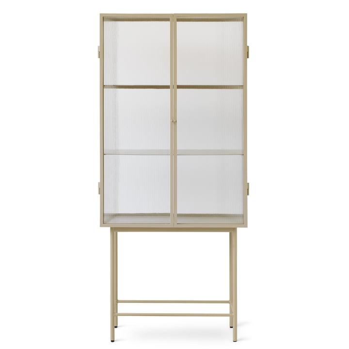 Haze Vitrine von ferm Living in Glas / cashmere