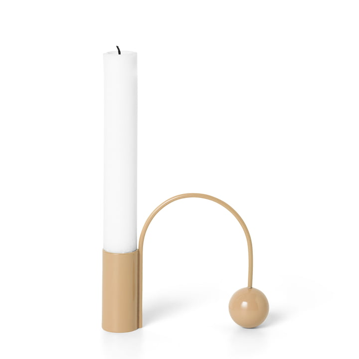 Kerzenhalter Balance, macaroon von ferm Living