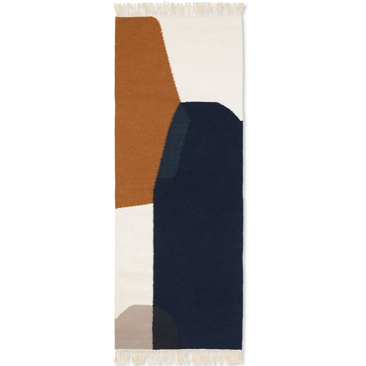 ferm Living - Kelim Mat, Merge, 70 x 180 cm